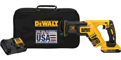 Dewalt DCS367D1 20V MAX XR Brushless Compact Reciprocating Saw Kit