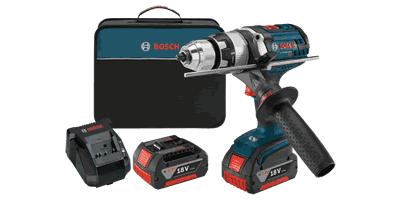 Bosch HDH181X-01 18V Brute Tough Hammer Drill Driver Kit with KickBack Control