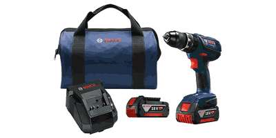Bosch HDS181A-01 18V Compact Tough Hammer Drill/Driver Kit