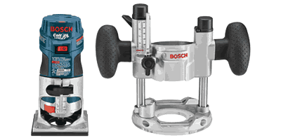 Bosch PR20EVSPK Colt Variable Speed Electronic Palm Router Combination Kit