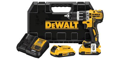 Dewalt DCD796D2BT Brushless Compact Hammerdrill with Bluetooth Battery Packs