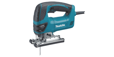 "Makita 4350FCT Top Handle Jig Saw with ""Tool‑less"" Blade Change"