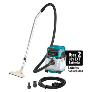 Makita XCV13Z Cordless and Corded 4 Gallon HEPA Filter Dry Dust Extractor and Vacuum