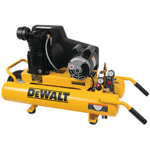 Dewalt DXCMTA1980854 8 Gal. 155 PSI 1.9 HP Electric Dual Voltage Wheelbarrow Air Compressor