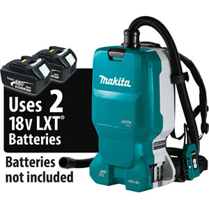 Makita XCV18ZX Brushless Cordless 1.6 Gallon HEPA Filter Backpack Dry Dust Extractor