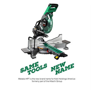Metabo HPT C10FSHCT Sliding Dual Compound Miter Saw with Laser