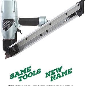 Metabo HPT NR65AK2 Strap-Tite Fastening System Strip Nailer